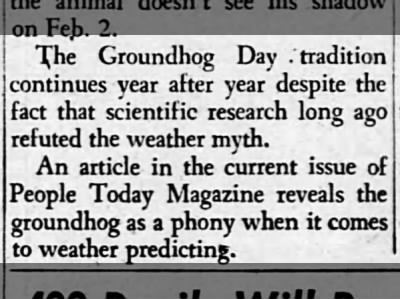 groundhog is a phony