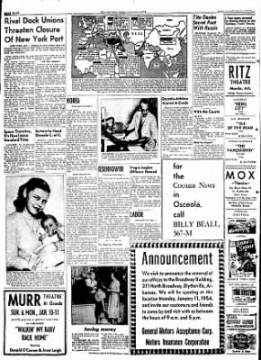 The Courier News from Blytheville, Arkansas on January 9, 1954 · Page 8