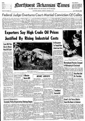 Northwest Arkansas Times from Fayetteville, Arkansas on September 25, 1974 · Page 1