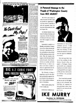 Northwest Arkansas Times from Fayetteville, Arkansas on July 23, 1952 · Page 6