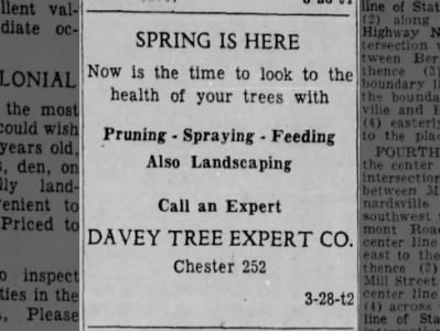 1957_ Davey Tree Expert Co. Advertisement
